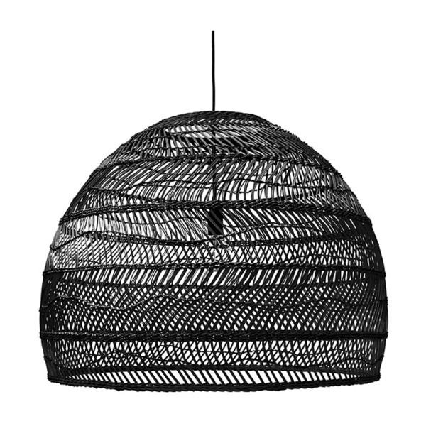 Wicker rieten hanglamp L - H60-⌀80