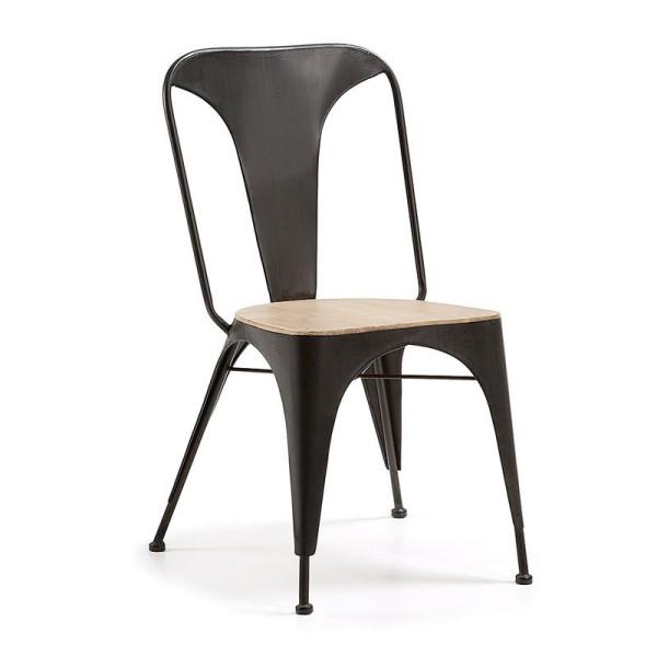 Industriele stoel van grijs metaal