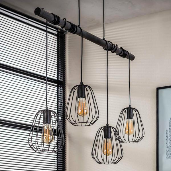 Industriele 4-lichts hanglamp