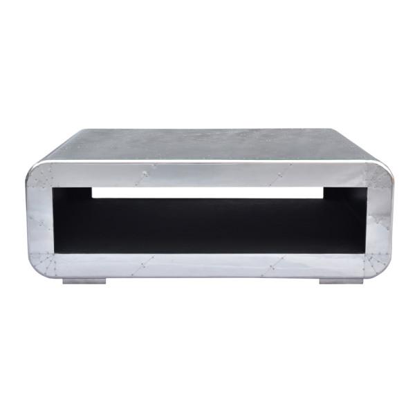 Aluminium salontafel rechthoekig