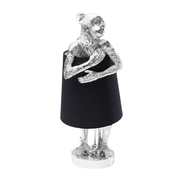 Aapfiguur tafellamp zilver