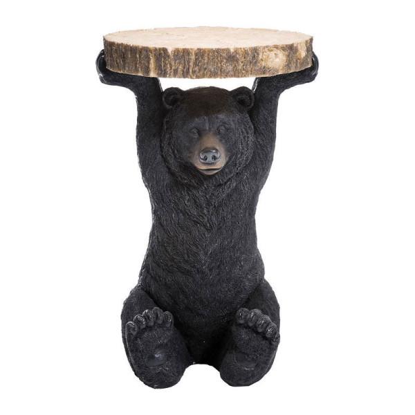Bijzettafeltje zwarte beer