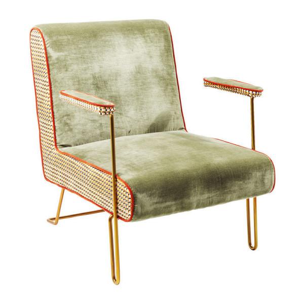 Unieke fauteuil met patroon