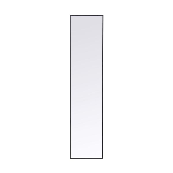 Smalle spiegel zwart 180x30 cm