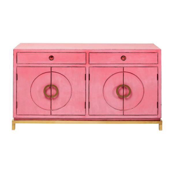 Dressoir roze met goud