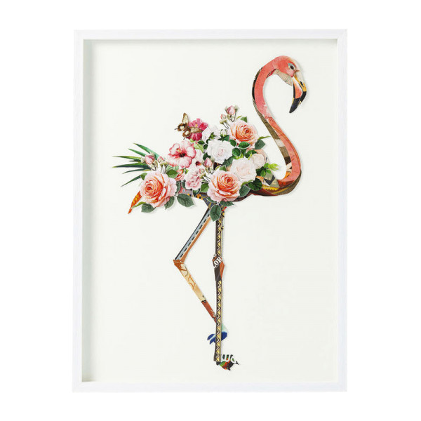 3D collage flamingo