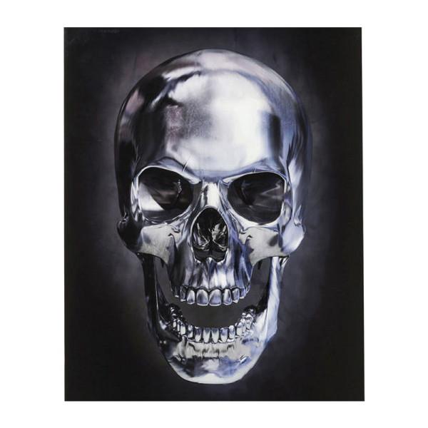 Glazen design schedel wanddecoratie