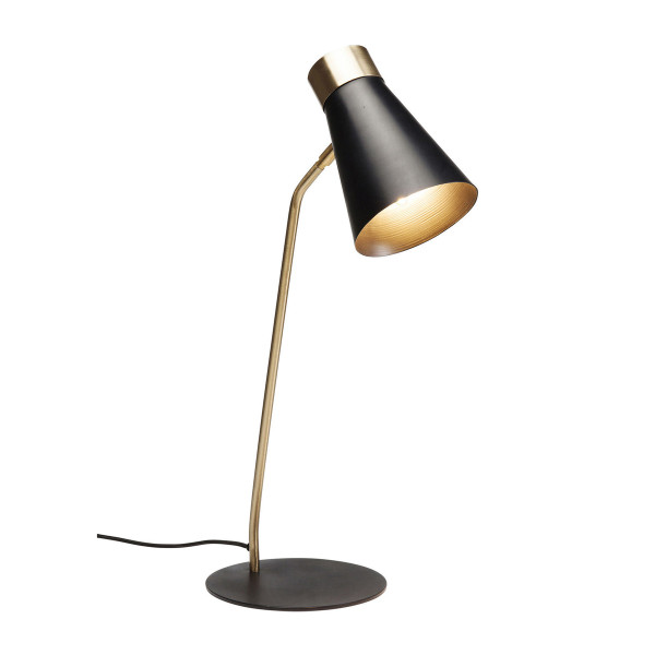 Zwart metalen bureaulamp