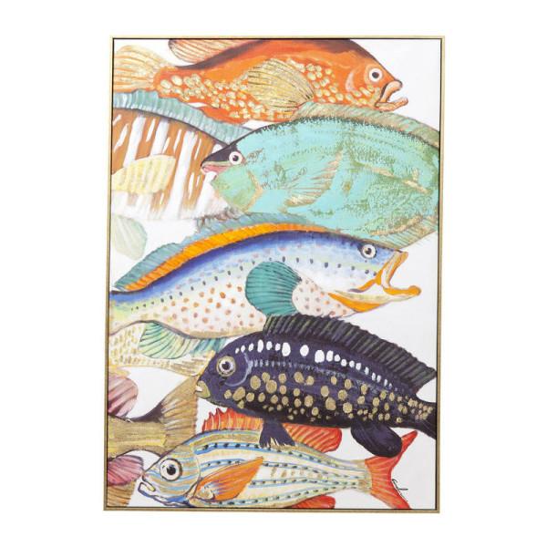 Wanddecoratie kleurrijke vissen Two