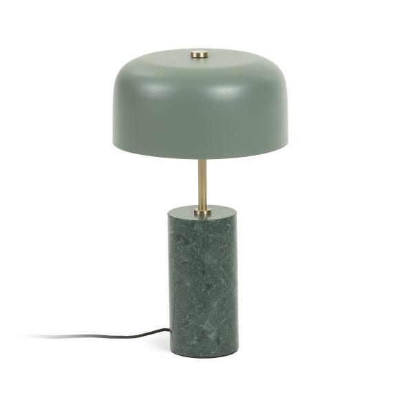 Retro tafellamp groen marmer