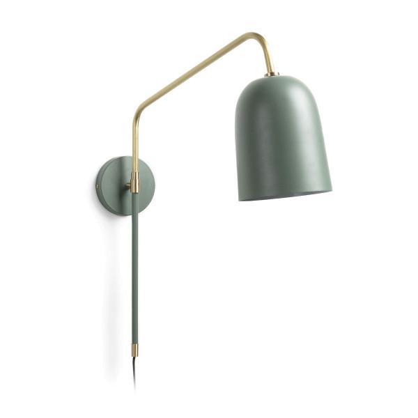 Groene metalen wandlamp