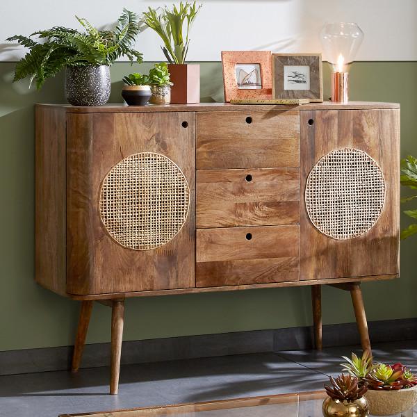 Bruin dressoir mangohout