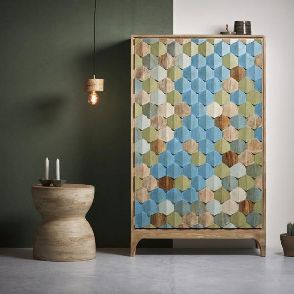 Wandkast met mozaiek patroon