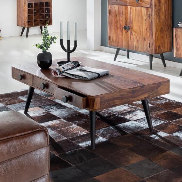 Rechthoekige salontafel van hout