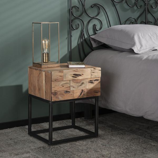 Massief houten nachtkastje acacia