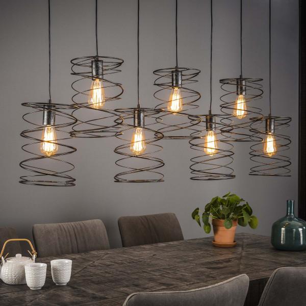 Metalen hanglamp 7-delig