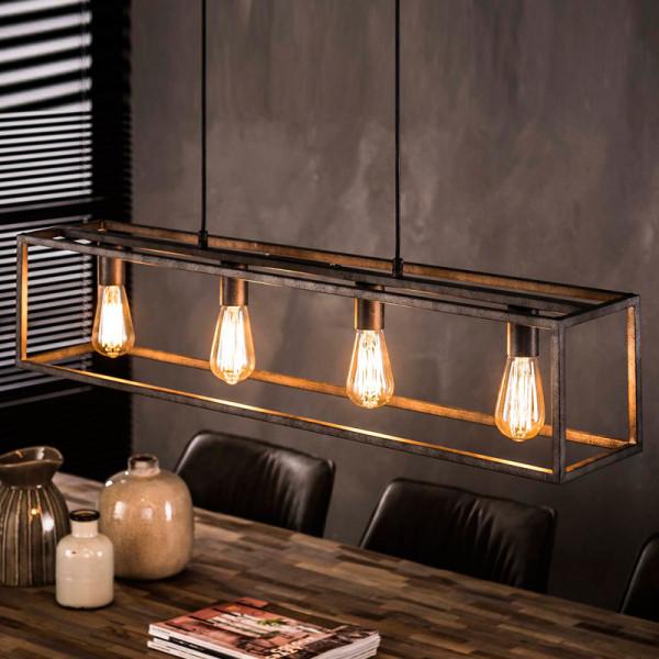Metalen hanglamp rechthoek