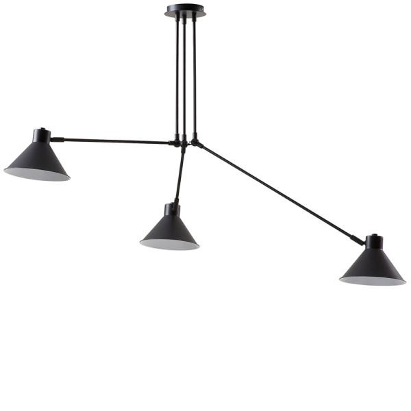 Zwarte hanglamp van metaal