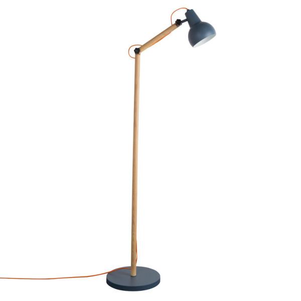 Moderne vloerlamp hout