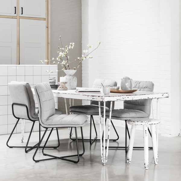 Eettafel antiek wit