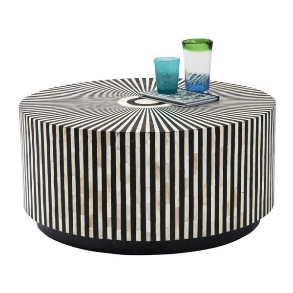 Ronde tafel zwart-wit 75