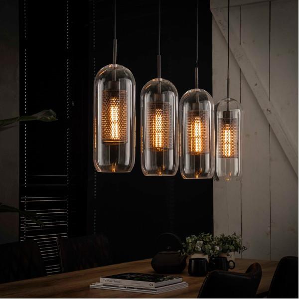 Hanglamp met glazen cylinders