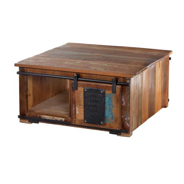 Salontafel van gerecycled hout