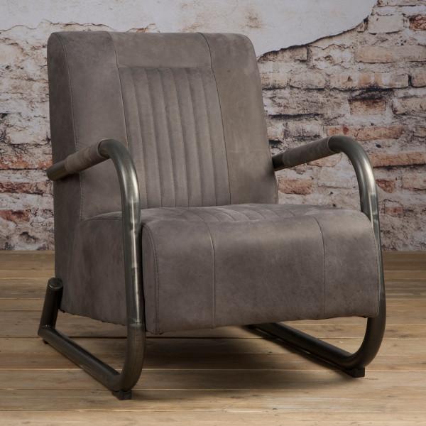 Industriele fauteuil van leer