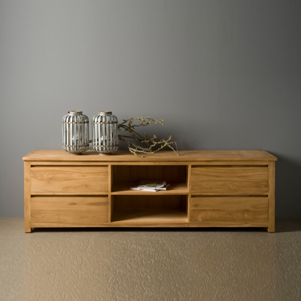 TV meubel hoog model - 4 lades - 200cm