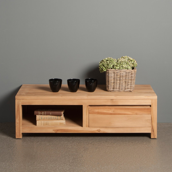 TV meubel laag model - 1 lade - 120cm