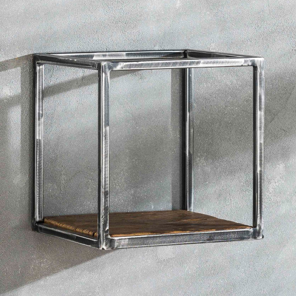 Vintagelook wandschap kubusvorm