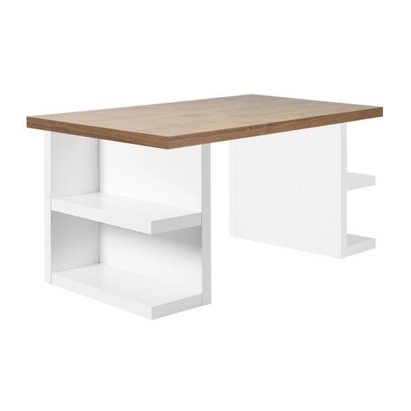 Wit bureau met noten