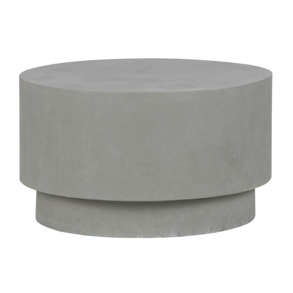 Ronde terrastafel grijs 60 cm