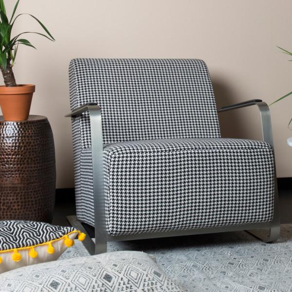 Design fauteuil pied-de-poule
