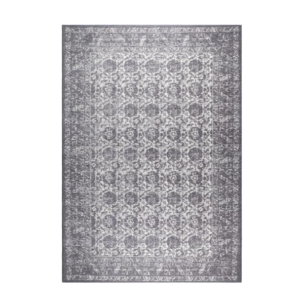 Donkergrijs geweven tapijt