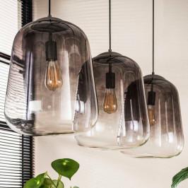 3-lichts hanglamp verchroomd glas