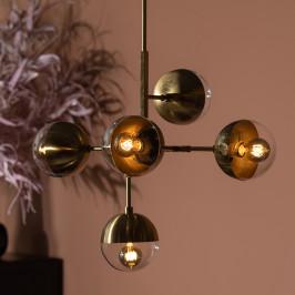 Messing hanglamp glasbollen