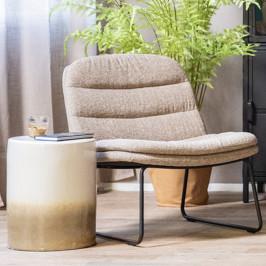 Moderne fauteuil zachte stof