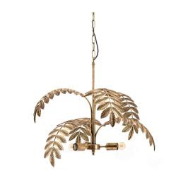 Hanglamp met gouden bladeren