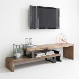 Tv-meubel met zwarte ijzeren frame
