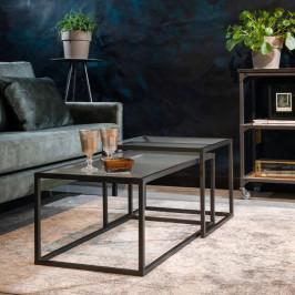 Ribbelglas salontafelset