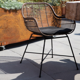 Outdoor stoel donker rotan