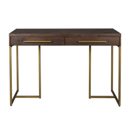 Visgraat sidetable met messing