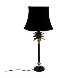 Palmboom tafellamp zwart goud