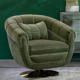 Draaibare vintage fauteuil