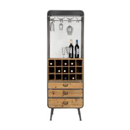 Open houten wijnkast
