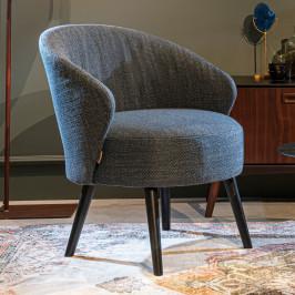 Stoere fauteuil met ronde rug