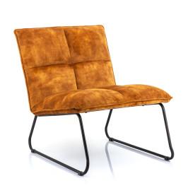 Fluwelen design fauteuil