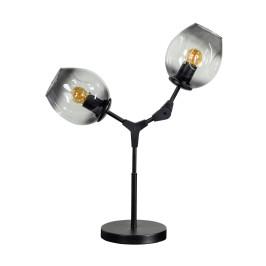 Moderne tafellamp met rookglas