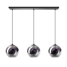 Hanglamp met glazen bollen rookglas